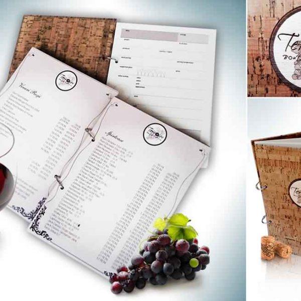 Meniu-si-Agenda-de-degustare-vinuri-cu-coperta-din-pluta-si-foi-interschimbabile