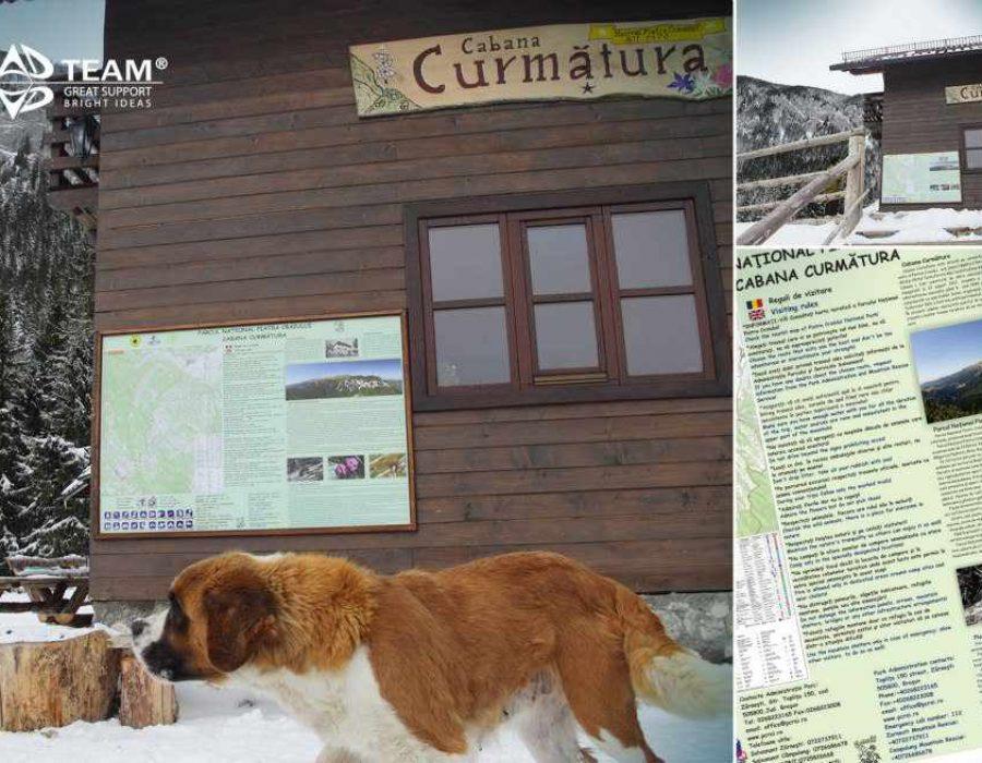 Panou-turistic-in-Parcul-National-Piatra-Craiului
